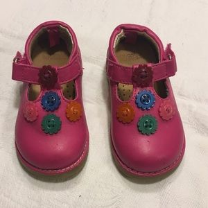 Gymboree Pink Buttons Mary Janes Shoes Size 4c